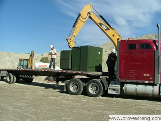 Offloading electrical equipment...