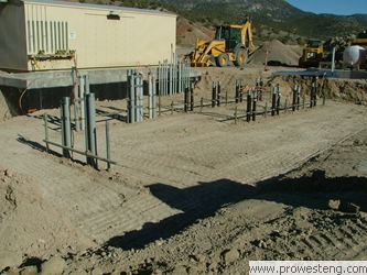 earthwork for concrete transformer pad...